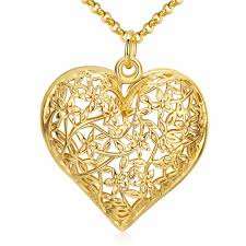 heart shape pendant necklace flower pattern previous