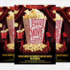 Free Movie Night Flyer Templates Movie Night Premium Psd Flyer Template