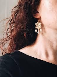 gold lace filigree chandelier earrings with pearl drops bridal teardrop pearls mens diamond cross necklace zodiac