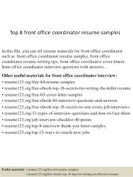 office coordinator resume