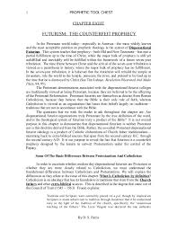 Chapter8 Futurism The Counterfeit Prophecy