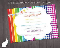 Free Rainbow Party Invitation Free Party Invitations By