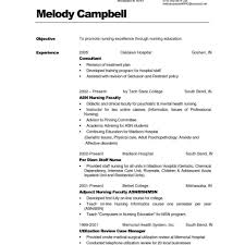 Nursing Job Resume Examples Sample Resumes Example Utilization