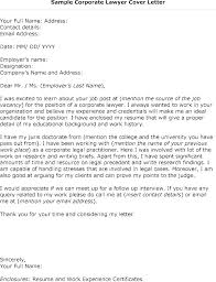 Sample Law Firm Cover Letter Sample Cover Letter Attorney Cover
