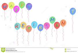 retirement banner clipart happy retirement party balloon banner white background stock
