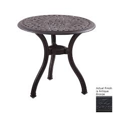 darlee series 60 22 in w x 22 in l round aluminum end table