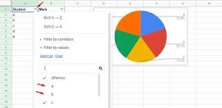 Google Chart Range Filter Example How To Include Filtered Rows In A Chart In Google Sheets