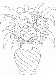 Small Picture Flowers in a Vase coloring pages Download and print Flowers in a
