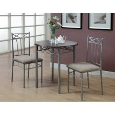Metal Table For Kitchen Cappuccino Silver Metal 3 Piece Bistro Table Set Free Shipping