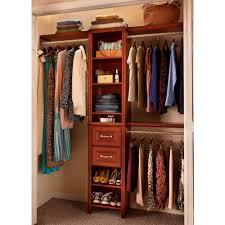 closet organizers home depot stunning on bedroom for closetmaid impressions 16 in w dark cherry narrow kit 30850 12