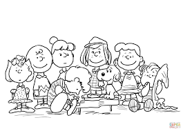 Charlie Brown Thanksgiving Coloring Pages Throughout Viettiinfo