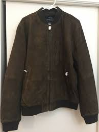 new 2019 lucky brand 499 mens suede er leather jacket xl brown