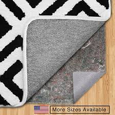 gorilla grip original felt rubber underside gripper area rug pad 8 x 10 made in usa extra thick for hardwood hard floors plush cushion support for