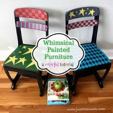 colorful painted furniture. Whimsical Painted Chairs Colorful Furniture