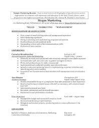 Marketing Position Resume Sidemcicek Com