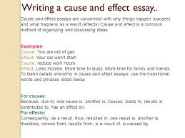 and effect essay writing sample sample cause and effect essay wordpress com