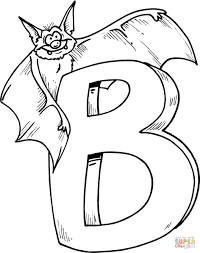 Small Picture Letter B is for Bat coloring page Free Printable Coloring Pages