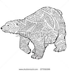 Small Picture stock vector hand drawn coloring pages with polar bear zentangle