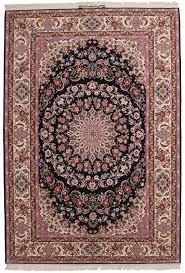 signed silk wool vintage persian isfahan 7 x 10 area rug 14143