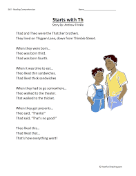 Worksheets are fun fonix book 2, sh th ch wh, circle the sound that matches the sh wh. Starts With Th Reading Comprehension Worksheet Have Fun Teaching