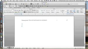 Microsoft Word Apa Header Setting Up Apa 6e Headers In Word 2011 Mac