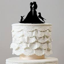 Lesbian Wedding Cake Toppers 1 Dog & 1 Cat Family Pets