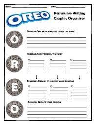 editor  writing graphic organizers and graphics on pinterestoreo graphic organizer   persuasive writing  oreo method  upper elementary