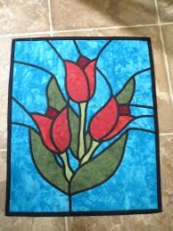 stained glass wall hanging tulip stain glass wall hanging by on stained glass window wall hanging