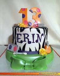 Fun Girly 13th Birthday Cake Kyrstens Sweet Designs