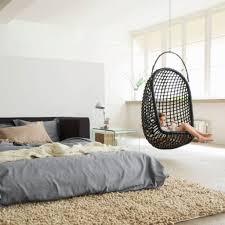 Modern Hanging Chair Furniture Elegant Bedroom Black Wicker Hanging Chair With Brown