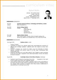 6 Curriculum Vitae Template Cv English Picture Resume Examples