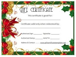 christmas certificates templates free christmas certificate templates formal gift certificate