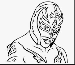 rey mysterio coloring pages book excellent the rock wwe printable with fabulous