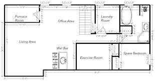 Basement Layout Design Set Custom Decoration