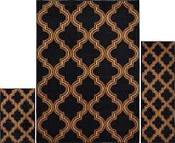 area rug and runner set geometric area rugs contemporary inspirational 3 pc set modern contemporary geometric area rug runner