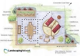 on grade patio plan