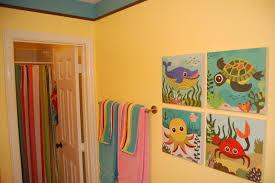 Kids Bathroom Interesting Kids Bathroom Wall Decor Colorful Howiezine