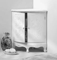 Wooden Corner Bathroom Cabinet Captivating White Corner Bathroom Cabinet With Amazing Design