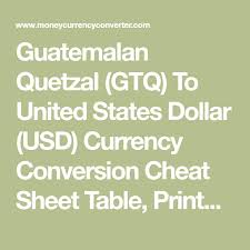 Dollar Quetzal Exchange Rate Chart Guatemalan Quetzal Gtq To United States Dollar Usd