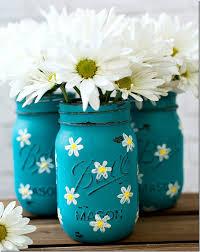 painted daisy mason jars 15 of 26