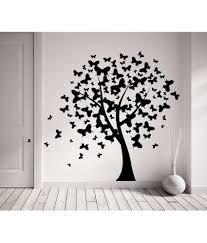 Decor Kafe Butterflies on Tree Wall Sticker - Black ...