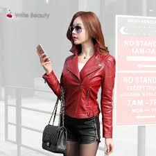 new zipper faux soft streetwear punk gothic coat motorcycle leather jacket women plus size pu black slim outwear