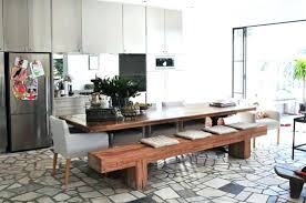 Dining Room Tables With A Bench Impressive Decorating Design