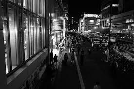 Japan white black monochrome street cityscape night road photography Leica  metropolis Tokyo infrastructure Jp light bw