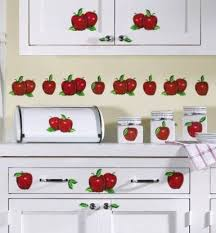 apple kitchen decor. apple decals for kitchen | decor stick-on by collections etc r