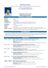 Cv resume sample for fresh graduate of office administration.  https://sites.google.com/site/huynhbahoc/ http: ...