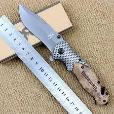 Browning <b>X50</b> folding knife 5cr15mov blade + wooden handle ...