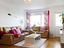 design stunning living room. Interior Decorating Small Spaces Living Room Design For Space With Wooden Floor Colorful Curtain And Brownn Sofa Idea On Information Stunning