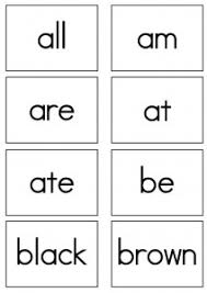 Dolch Sight Words Flash Cards Primer Sight Words Reading
