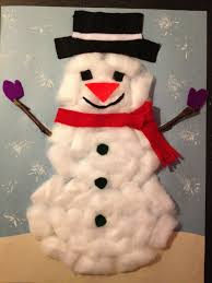 Holiday Time Light Up Led Fluffy Snowman Instructions Cotton Ball Snowman Winter Art Projects Christmas Crafts